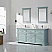 """72"""" Double Vanity in Finnish Green and Composite Carrara White Stone Countertop Without Mirror"""