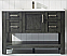 """48"""" Single Vanity in Rust black and Composite Carrara White Stone Countertop Without Mirror"""