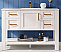 """48"""" Single Vanity in White Finish and Composite Carrara White Stone Countertop Without Mirror"""