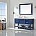 """60"""" Single Vanity in Jewelry Blue and Composite Carrara White Stone Countertop Without Mirror"""