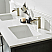 "60"" Double Vanity in Rust Black and Composite Carrara White Stone Countertop Without Mirror"