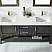 """72"""" Double Vanity in Rust black and Composite Carrara White Stone Countertop Without Mirror"""