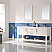 """72"""" Double Vanity in White Finish and Composite Carrara White Stone Countertop Without Mirror"""
