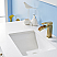"48"" Single Vanity White Finish and Composite Carrara White Stone Countertop Without Mirror"