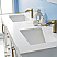 "60"" Double Vanity White Finish and Composite Carrara White Stone Countertop Without Mirror"