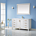 "60"" Single Vanity White Finish and Composite Carrara White Stone Countertop Without Mirror"