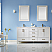 """72"""" Double Vanity White Finish and Composite Carrara White Stone Countertop Without Mirror"""