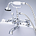 Vintage Classic 7 Inch Spread Deck Mount Tub Faucet With 2 Inch Risers & Handheld Shower in Chrome Finish With Metal Lever Handles Without Labels
