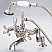 Vintage Classic Adjustable Center Deck Mount Tub Faucet With Handheld Shower in Polished Nickel (PVD) With Metal Lever Handles Without Labels