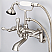 Vintage Classic Adjustable Center Wall Mount Tub Faucet With Swivel Wall Connector & Handheld Shower in Brushed Nickel Finish With Metal Lever Handles Without Labels