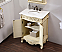 """42"""" Antique Ivory with Matching Medicine Cabinet, Imperial White Marble Top"""