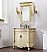 """32"""" Antique Ivory with Matching Medicine Cabinet, Imperial White Marble Top"""