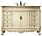 """48"""" Antique Ivory with Matching Medicine Cabinet, Imperial White Marble Top"""