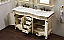 """60"""" Antique Ivory Double with Matching Medicine Cabinet"""