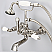 Vintage Classic 7 Inch Spread Wall Mount Tub Faucet With Straight Wall Connector & Handheld Shower in Polished Nickel (PVD) Finish With Metal Lever Handles Without Labels