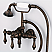 Vintage Classic 3.375 Inch Center Wall Mount Tub Faucet With Down Spout, Straight Wall Connector & Handheld Shower in Oil-rubbed Bronze Finish Finish With Metal Lever Handles Without Labels
