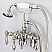 Vintage Classic Adjustable Center Wall Mount Tub Faucet With Down Spout, Swivel Wall Connector & Handheld Shower in Polished Nickel (PVD) Finish With Metal Lever Handles Without Labels
