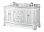 """60"""" Double Sink White Bathroom Vanity with Italian Carrara White Marble Counter Top"""