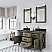 """60"""" Double Sink Carrara White Marble Countertop Vanity in Grizzle Gray with Mirrors with Faucet Options"""