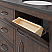 """60"""" Double Sink Blue Limestone Countertop Vanity in Rustic Sierra with Mirror and Faucet Options"""
