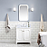 """30"""" Single Sink Carrara White Marble Countertop Vanity in Pure White with Mirror and Faucet Options"""