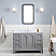 """48"""" Single Sink Carrara White Marble Countertop Vanity in Cashmere Grey with Mirror and Faucet Options"""