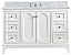 """48"""" Single Sink Carrara White Marble Countertop Vanity in Pure White with Mirror and Faucet Options"""