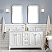 """60"""" Double Sink Carrara White Marble Countertop Vanity in Pure White with Mirror and Faucet Options"""