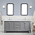 "72"" Double Sink Carrara White Marble Countertop Vanity in Cashmere Grey with Mirror and Faucet Options"