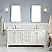 """72"""" Double Sink Carrara White Marble Countertop Vanity in Pure White with Mirror and Faucet Options"""