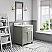 "30"" Single Sink Carrara White Marble Countertop Vanity in Glacial Green with Mirror and Faucet Options"