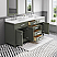 """72"""" Double Sink Carrara White Marble Countertop Vanity in Glacial Green with Mirror and Faucet Options"""
