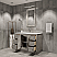 """48"""" Single Sink Carrara White Marble Countertop Vanity in Grey Oak with Mirror and Faucet Options"""