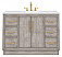 """48"""" Single Sink Carrara White Marble Countertop Vanity in Grey Oak with Faucet and Mirror Options"""