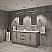 "72"" Double Sink Carrara White Marble Countertop Vanity in Grey Oak with Mirror and Faucet Options"