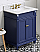 "30"" Hale Blue Bathroom Vanity Single Sink White Carrara Marble Vanity Top, Undermount Rectangle Bowl"