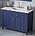 "48"" Single Sink Bathroom Vanity Hale Blue Finish White Carrara Marble Vanity Top, Undermount Rectangle Bowl"