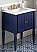 "30"" Single Sink Hale Blue Finish Bathroom Vanity White Carrara Marble Vanity Top, Undermount Rectangle Bowl"