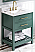 """30"""" Forest Green Vanity, White Carrara Marble Vanity Top, Undermount Rectangle Bowl"""