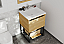"""24"""" Base Bathroom Vanity - California White Oak Cabinet Finish with Top Options"""