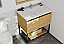 """36"""" Base Bathroom Vanity - California White Oak Cabinet Finish with Top Options"""