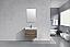 """Modern Lux 30"""" Butternut Wall Mount Modern Bathroom Vanity"""