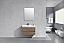 """Modern Lux 36"""" Butternut Wall Mount Modern Bathroom Vanity"""