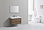 """Modern Lux 40"""" Butternut Wall Mount Modern Bathroom Vanity"""