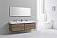"""Modern Lux 72"""" Double Sink Butternut Wall Mount Modern Bathroom Vanity"""