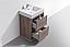 "Modern Lux 24"" Butternut Free Standing Modern Bathroom Vanity"