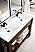"""James Martin Brooklyn 39.5"""" Wooden Sink Console, Rustic Ash - Exclusive"""