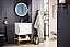 """James Martin Columbia 24"""" Single Vanity Cabinet, Glossy White with Hardware and Countertop Options"""