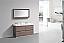 """Modern Lux 60"""" Double Sink Butternut Free Standing Modern Bathroom Vanity"""
