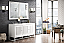 """James Martin Athens Collection 60"""" Double Vanity Cabinet, Glossy White"""